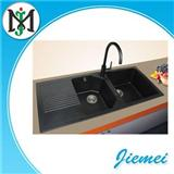 Online-selling Polished Edge-cutting Hand Wash Restaurant Quartz Stone Sink With Drainboard