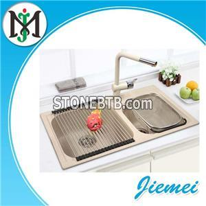 High Grade Wide Use Anti-wear Double Bowl Topmount Undermount Kitchen Acrylic Sink For The Healthy Life