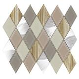 Wholesale Diamond Gloosy, Matt Glass And Marble Mosaic For Backsplash Wall Tile
