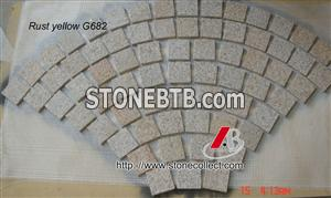 Rusty Yellow Cubestone, Paving Stone