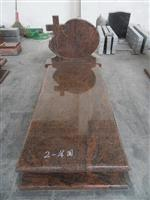 DL Multicolor Red Granite Tombstone