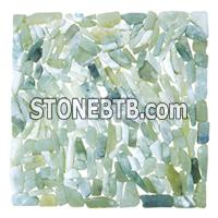 Green Pebble Stone, Green River Stone, Green Pebble tile