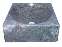 Black Stone Vessel Sink Basin Bowl