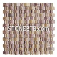 Mosaic, Red Mosaic, Travertine Mosaic