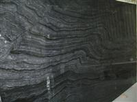 Wood Vein Black Marble Slab