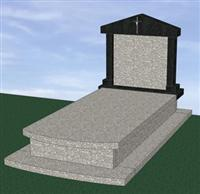 G664 Bainbrook Brown Headstone