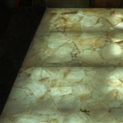 golden big onyx slab tiles with light