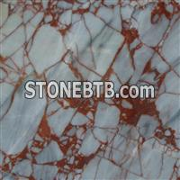 Chinese Maple Leaf Red Marble Top Table