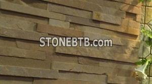 Yellow Exterior Wall Slate Block