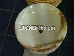 Light Green Onyx counter top Sink