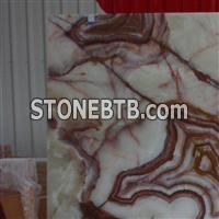 Polished Green Onyx Marble Slab