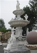Western White Marble Angel Fountain Sculpture