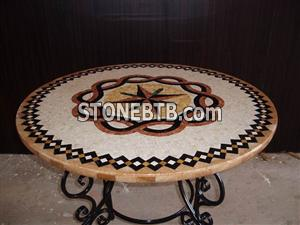 China Polished Round Mosaic Table Top