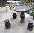 Polished Outdoor Black Granite Stone Table Base
