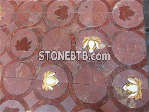 Polished Red Granite Round Flooring Tiles