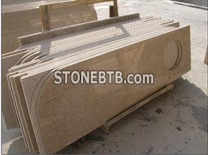 Polished Yellow Granite Bathroom Countertop