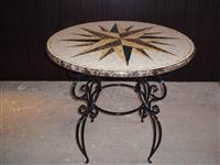 Round Table Top polished Mosaic
