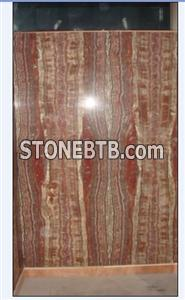 Wall Cladding Red Agate Marble Onyx Slab