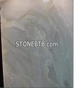 Polished Snow White Marble Onyx Slab