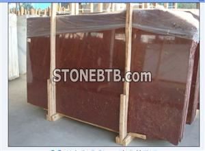China Polished Red Sandalwood Red Marble