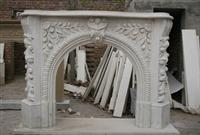 Hand-carved Sale White Marble Fireplace Surround
