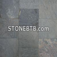 China Honed Silver Green Slate Floor Tiles