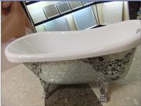 Pure White Artificial Quartz Freestanding Bathtub