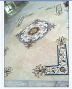 Marble Mosaic Square Pattern Medallion Floor Tiles