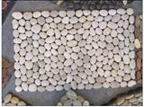 China Natural White Garden Pebbles Stone Floor