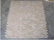 Beige Polished Marble Mosaic Patterned Tiles