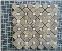 Polished China Light Emperador Mosaic Marble