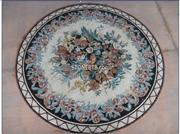 Round Medallion Mosaic Flower Patterns