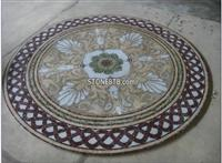 Flower Tile Round Mosaic Medallion Floor Patterns