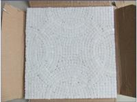 Natural Tumbled White Diamond Marble Mosaic Sheet