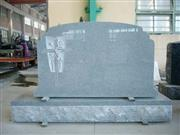 Polished Natural Grey Granite Designed Tombstones
