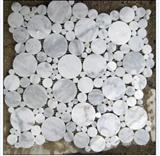 Round Dot Bianco Carrara Marble Mosaic Patterns