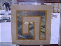 Square Marble Water Jet Tile Floor Medallion