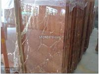 Spain Polished Brown Red Rojo Alicante Marble