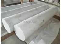 Polished Hunan White Marble Garden Gate Pillars
