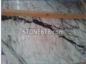 Polished White Cloud With Black Vein marble Tile