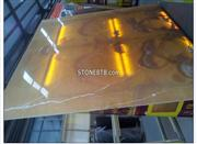 Polished Orange Onyx Composite Glass Table Top