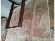 Polished Red Onyx Jade Marble Tile