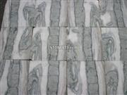 Polished Green And White Marble Flooring Tile