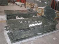 Polish Modern Green Jade Granite Tombstone