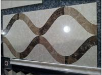 Square Wall Tile Water Jet Marble Medallions Floor Tiles