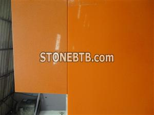 Polished Orange Artificial Quartz Stone Wall Covering