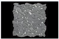 Cheap Tumbled Dark Grey Granite Mosaic Tile Sheets