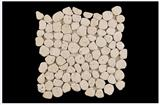 Tumbled Pebble Light Travertine Mosaic Patterns Tile