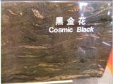 Polished Cosmic Black Granite Slab