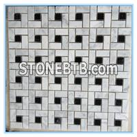 Polished Stone Mosaic Bianco Carrara